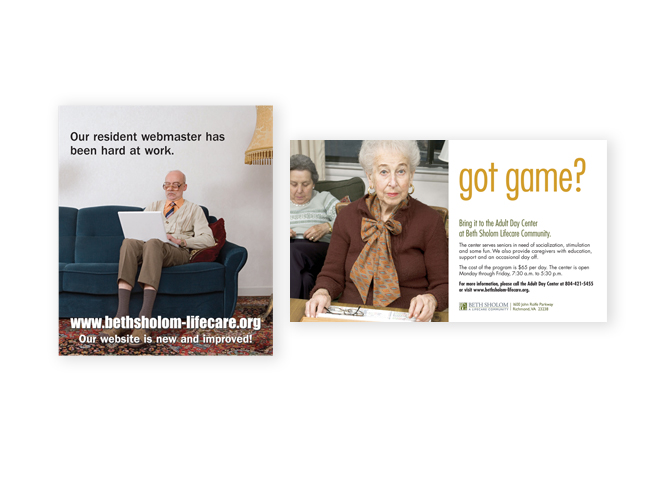 Beth Sholom Lifecare Community website and got game? ads