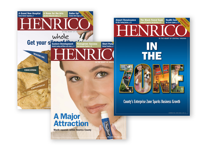 Henrico EDA magazine covers