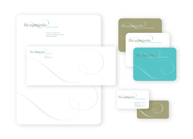 The Experience business card and stationery