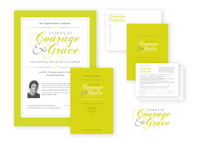 The Virginia Home Stories of Courage and Grace event collateral