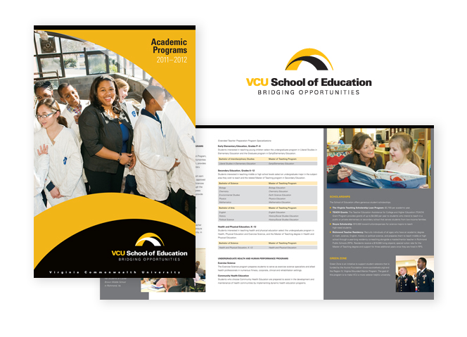 VCU School of Education Brochure spread
